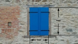 wallybois - how to measure for shutters