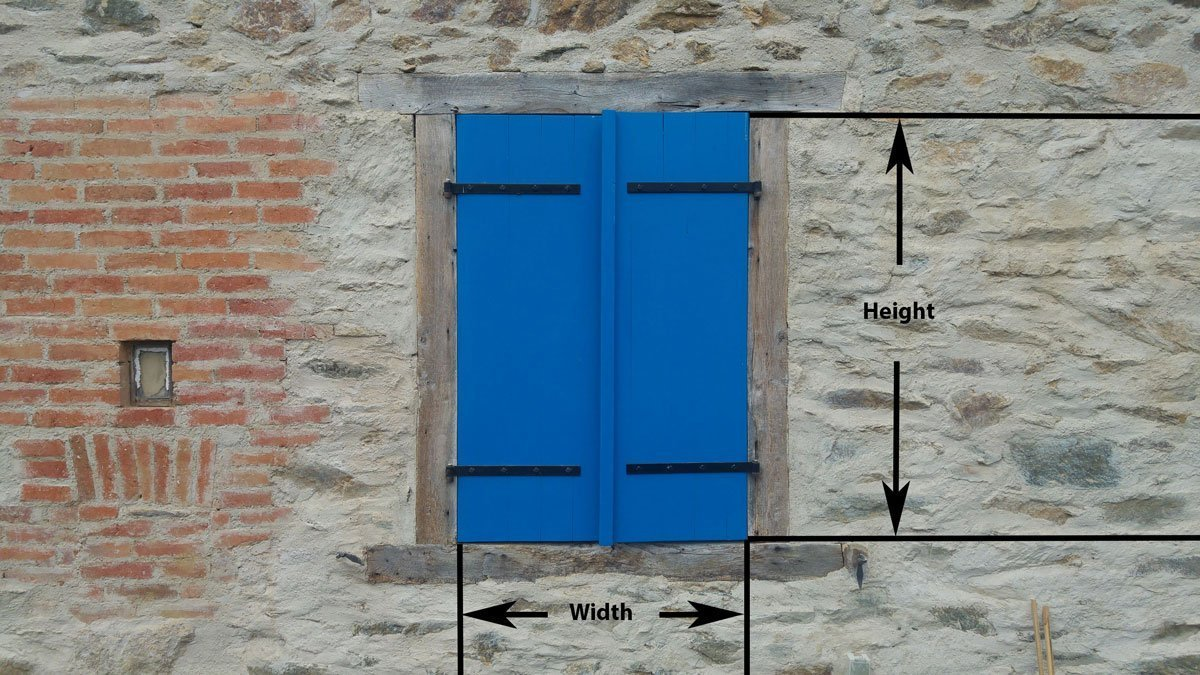 Oak Shutter Window Pair Ecologically Constructed Shutters Made To Measure In France