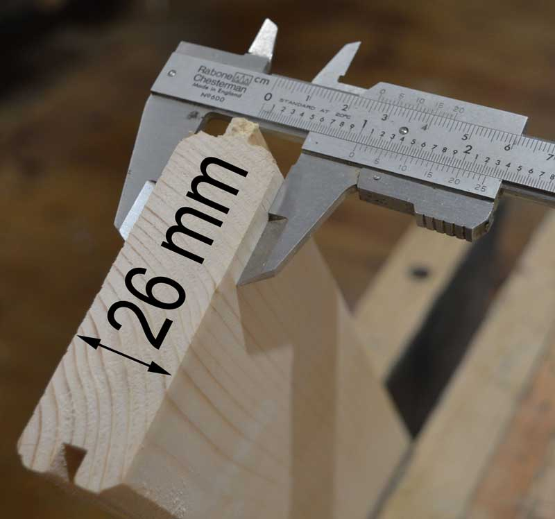 shutter thickness