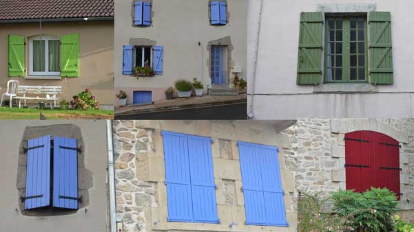 colourful shutters of france