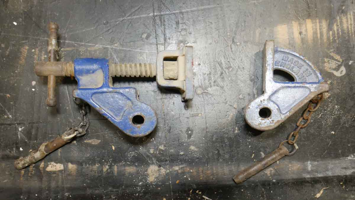 record sash clamp ends