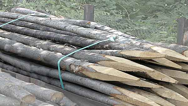 round fence posts for stock fencing