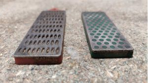 dollar store diamond sharpener compared to DMT diamond sharpener