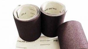 rolls of aluminium oxide sandpaper