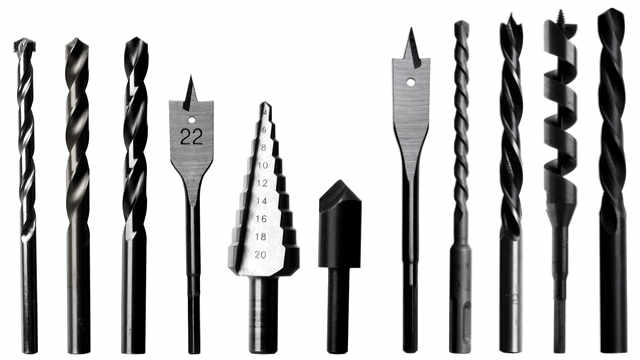 selection of wood drills and masonry