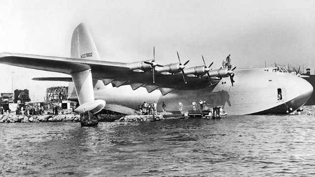 The Spruce Goose h-4 Hercules air nailed